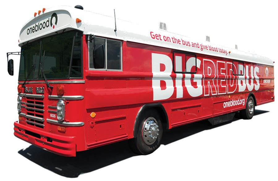 Big Red Bus blood drive at Holy Family on Sunday, Feb. 21