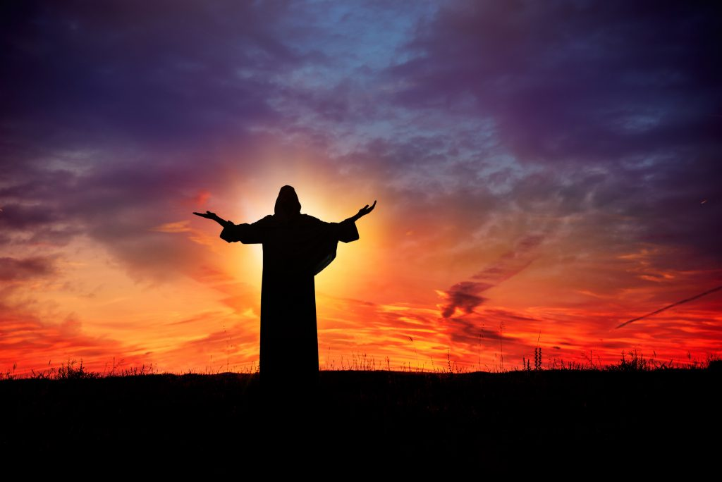 Jesus at Sunset
