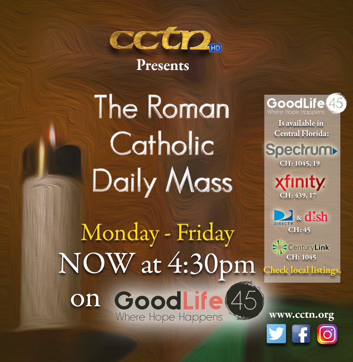New Time for Daily Mass Broadcasting